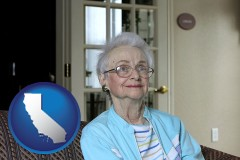 California - a senior woman in an assisted living facility