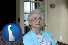 Delaware - a senior woman in an assisted living facility