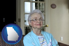 Georgia - a senior woman in an assisted living facility