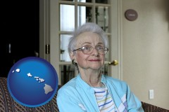 Hawaii - a senior woman in an assisted living facility
