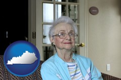 Kentucky - a senior woman in an assisted living facility