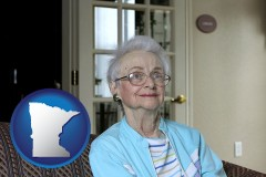 minnesota a senior woman in an assisted living facility