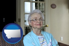 Montana - a senior woman in an assisted living facility