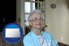 North Dakota - a senior woman in an assisted living facility