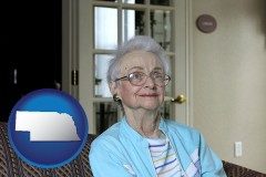 Nebraska - a senior woman in an assisted living facility