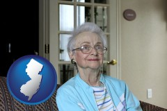 New Jersey - a senior woman in an assisted living facility