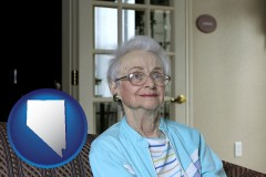 Nevada - a senior woman in an assisted living facility