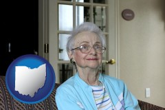 Ohio - a senior woman in an assisted living facility