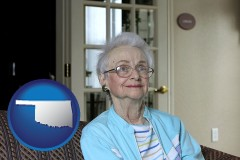 Oklahoma - a senior woman in an assisted living facility
