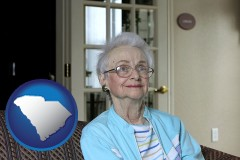 South Carolina - a senior woman in an assisted living facility