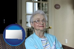 South Dakota - a senior woman in an assisted living facility