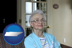 Tennessee - a senior woman in an assisted living facility